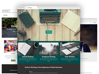 An assortment of fully customizable site templates